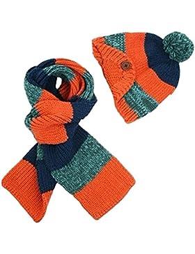 outflower Berretto lavorato a maglia sciarpa insieme mignonne Bambino Ragazzi Ragazze Costume in sciarpa, C, Taglia...