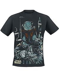 Bravado Herren T-Shirt Star Wars - Boba Fett Sketch