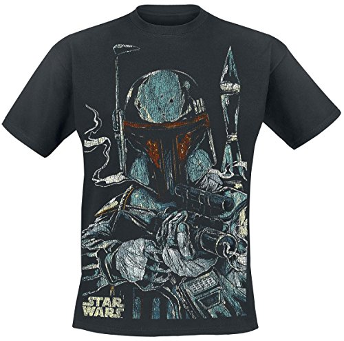 Star Wars Boba Fett Camiseta Negro 5XL