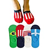 #10: COTSON Men's No Show Loafer Socks with Heal Grips Pack of 4 Pair