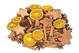 NaDeco Weihnachts Potpourri 250g | mit Zimtstangen, Sternanis, Orangenscheiben und Kokossternen