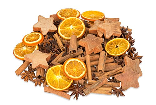 hundeinfo24.de NaDeco Weihnachts Potpourri 250g | mit Zimtstangen, Sternanis, Orangenscheiben und Kokossternen