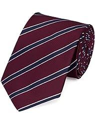Krawatte Fabio Farini in rot blau gestreift
