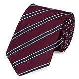 Moderne Fabio Farini Krawatte 8 cm in verschiedenen Farben, Rot-Blau gestreift