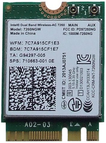Intel Dual Band Wireless-AC 7260 7260NGW WIFI Bluetooth PCI-E Card 802.11ac Dual Band 2x2 Wi-Fi + Bluetooth 4.0 (Dual 7260 Intel Band Wireless-ac)