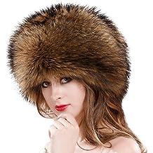 Chapka en Fausse Fourrure pour Femme Hiver Chaud Épaissir, QinMM Toque de  Style Russe Kozak 10089ab1afb