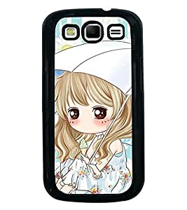 Fuson Premium 2D Back Case Cover Cute girl With White Background Degined For Samsung Galaxy S3 Neo::Samsung Galaxy S3 Neo i9300i