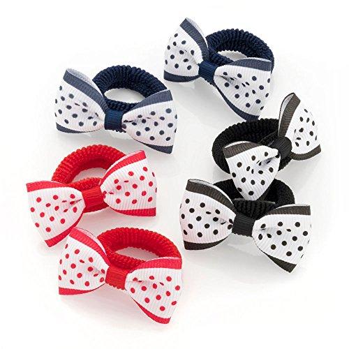 Kleine Haarschleifen/Haarbänder für Mädchen, für Ihr kleines Mädchen, mit Bommel/Schleife, 4,5...