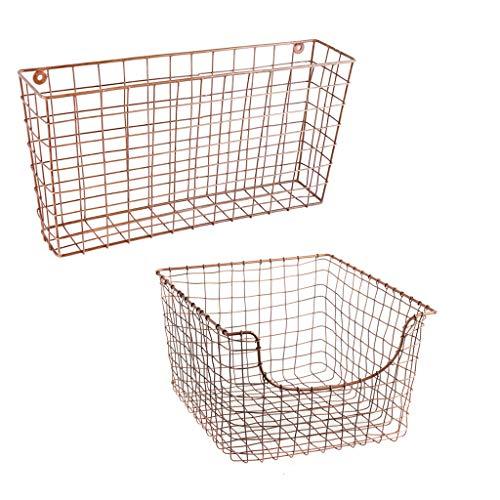 Industrielle Büroaufbewahrung - 1 Wandmontage und 1 Schreibtisch aus Kupfer (2-post-racks)