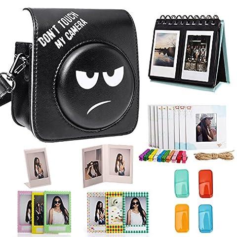 Woodmin Noir 8-en-1 Accessoires Bundle pour Fujifilm Instax Mini 70
