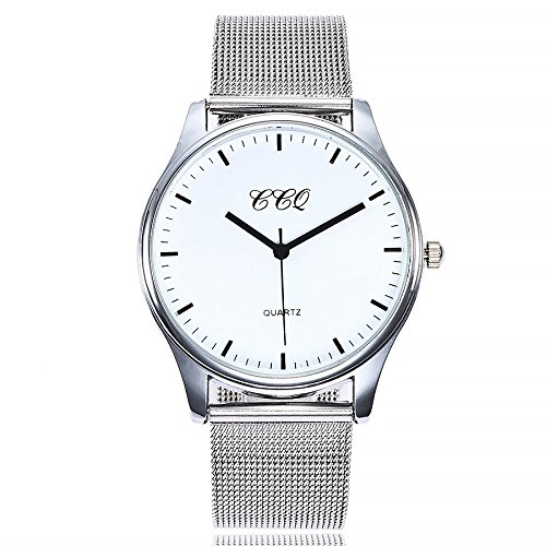 Damen Einfach Armbanduhr, Frauen Mädchen Fashion Casual Analog Quarz Uhr Elegant Ultra-flach Slim-Uhr mit Mesh Edelstahl Damenuhr LEEDY Förderung! -