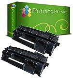 Printing Pleasure 2 Toner kompatibel für HP Laserjet P2030 P2035 P2035N P2055D P2055DN P2055 P2055X P2056 P2057 | CE505A 05A