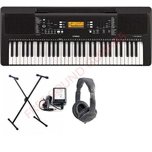 Yamaha PSR E363 Tastiera con supporto tastiera + cuffie e alimentatore