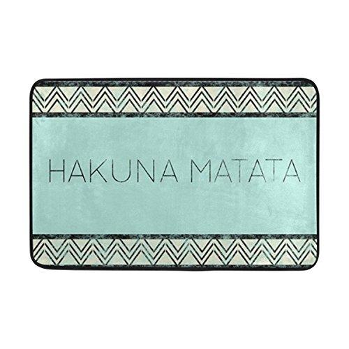 jstel Hakuna Matata Vintage-Fußmatte waschbar Garten Büro Fußmatte, Küche ESS-Living Badezimmer Pet Eintrag Teppiche mit Rutschfeste Unterseite