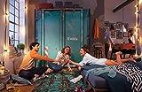 lifestyle4living Schwebetürenschrank, Kleiderschrank, Schrank, Schlafzimmerschrank, Schweber, Schwebetüren, Schrankprogramm, Übersee Container, Container-Look, Petrol