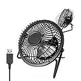Tragbare Mini Fan USB Desktop Metall Fan neigbar mit Schalter unten–Schwarz schwarz