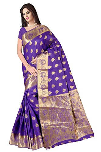 Boutique On Palm Bollywood Style New Generation Concept Party Wear Saree Banarasi Silk Sarees (Purple Jacquard Coconet Concept Butta)