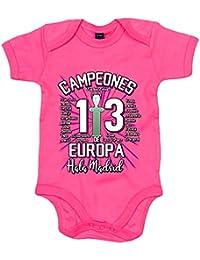 Body bebé Real Madrid Campeones de Europa 13 decimotercera Hala Madrid 92142b7acd3d1