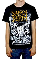 """Napalm Death """"From Enslavement To Obliteration"""" Vintage Style Print T-shirt"""