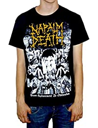 "Napalm Death ""From Enslavement To Obliteration"" Vintage Style Print T-shirt"