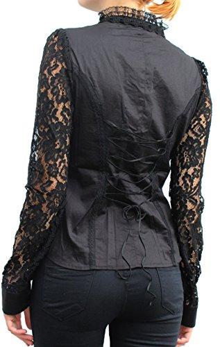Chemisier de pointes punk rave costumes tailleurs gothic lolita bURLESQUE barock pY - 040 Noir - Noir