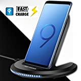 ZYX Qi Wireless Ladegerät 10W Für iPhone X 10 8 Plus Samsung Galaxy S9 S8 Hinweis 8 Xiomi Phone Universal Fast Wireless Ladestation,Black