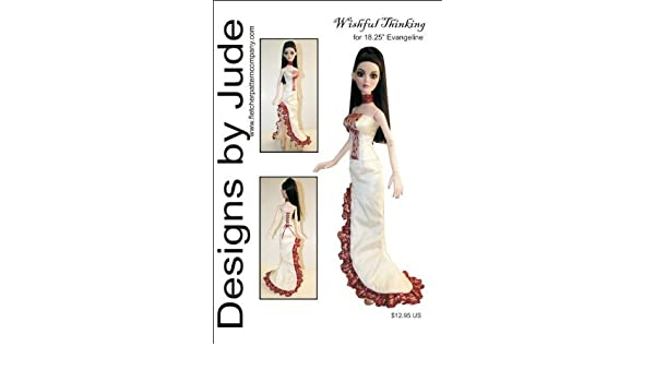 """Wishful Thinking Doll Clothes Sewing Pattern for 18.25/"""" Evangeline Ghastly"""