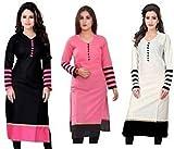 #10: Generic Women's Cotton Combo Of 3 Kurti (Multicolor,Free Size)