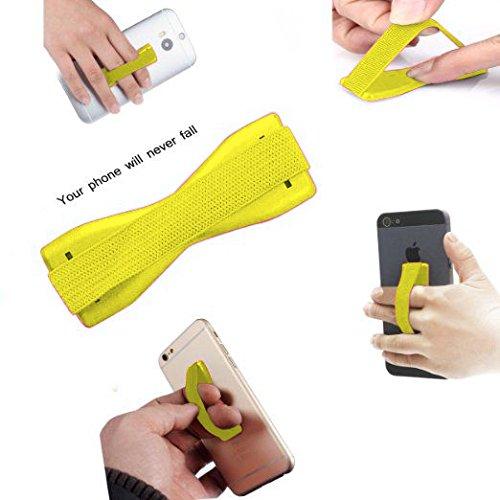 ONX3 (Yellow) ZTE Grand Memo II LTE Universal Anti-Rutsch-Gummi Finger, Handy-Griff-Halter mit Starker Klebe
