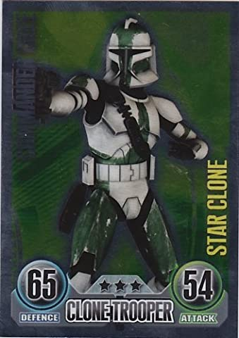 Topps Force Attax Series 1 No.160 Star Card COMMANDER GREE Clone Trooper