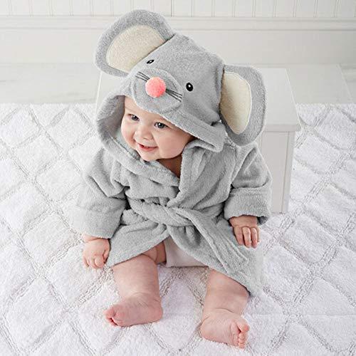 Baby Pajamas, toalla de baño con capucha para bebé de alta calidad, suave y cómoda, diseño de dibujos animados small gris