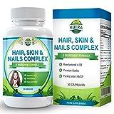 Vitamines pour Peau, Cheveux et Ongles, Complexe de beauté qui nourrit la peau, favorise la croissance des...