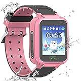 Wasserdichte Smartwatch für Kinder, GPS, LBS WiFi-Positionierung, 3,6 cm Touchscreen, Armbanduhr mit Anruf, Sprache, Chat, Kamera, Schrittzähler, Wecker, Geschenk für Jungen