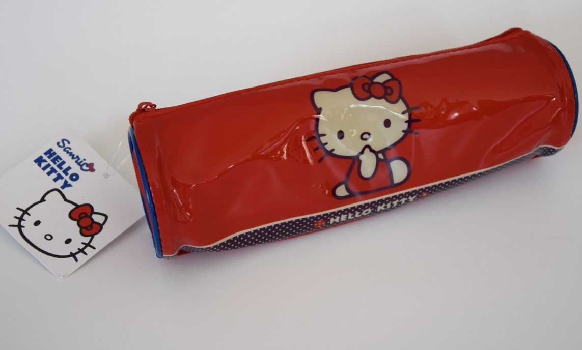 Hello Kitty Estuche Escolar Rojo