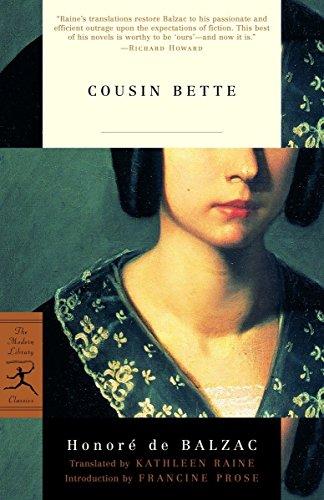 Cousin Bette (Modern Library) por Honore de Balzac