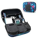 USA Gear Organizzatore di Custodie da Viaggio per Insulina per Forniture Diabetiche - Sistemi di monitoraggio della glicemia, siringhe, fiale e lancette di insulina - Galassia
