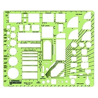 Rapidesign Schablone für Schrauben und Muttern 1/2 Zoll ABC Architektenzeichnung