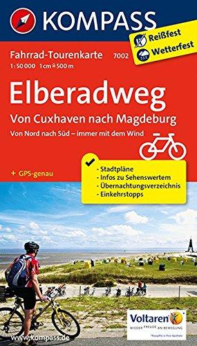 Preisvergleich Produktbild Elberadweg, Von Cuxhaven nach Magdeburg: Fahrrad-Tourenkarte. GPS-genau. 1:50000. (KOMPASS-Fahrrad-Tourenkarten, Band 7002)