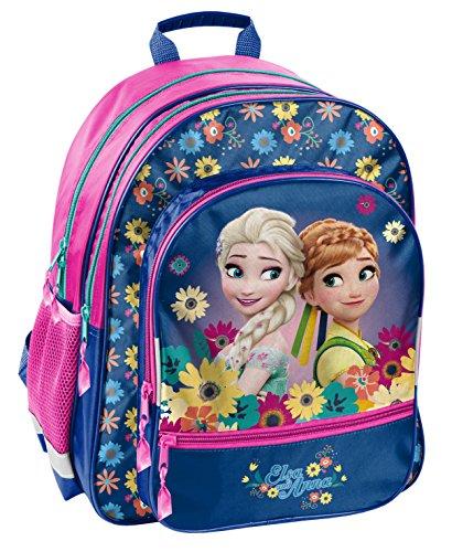 Disney Frozen - Die Eiskönigin Elsa Anna Olaf Rucksack Kinderrucksack (DFV) mit Hauptfach und Nebenfach Getränkenetz, 39x38x20 cm, ()