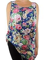 7 Farben Damen Tank Tops mit Blumen Gr. 42 44 46 48 50