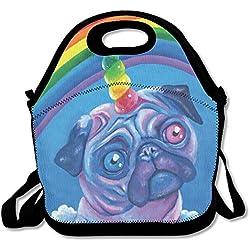 Rainbow Unicorn CARLINO almuerzo Tote Bag bolsas Awesome almuerzo caja fiambrera de bolso para la escuela trabajo al aire libre