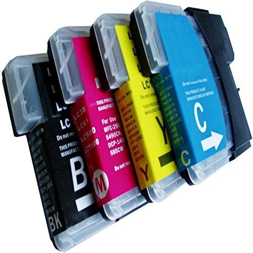 10 cartuchos XL de tinta de impresora compatible con Brother LC985 LC985BK LC985M LC985Y LC985C