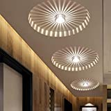 Modern Corridor Porch Lights,Creative Ceiling Lights,Flush Mounted Sunflower Wall Lights,Asile Lights-3W-Warm White