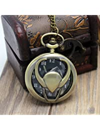 Delhitraderss Vintage LOki Metal Bike Car Bag Keychain Pocket Watch Clock |Pendant