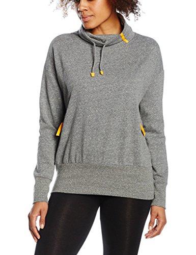 Intimuse Damen Sweatshirt, Grau (Dunkelgrau Melange 075), Medium