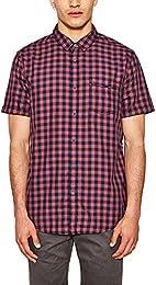 suchergebnis auf amazon de f�r herren hemd kurzarm rot bekleidung  edc by esprit herren freizeithemd