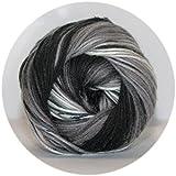 Rellana Wolle Batik Farbe 02 schwarz 100g Knäuel
