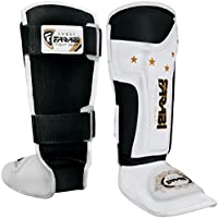Kids shin pads junior kickboxing, muay thai, mma shin guards shin instep leg & foot protector by Farabi Sports