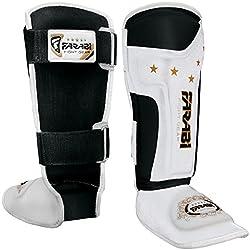 Kids Junior Kickboxing Pads, Muay Thai, Mma Shin Pads, Shin Instep Leg & Foot Protector By Farabi