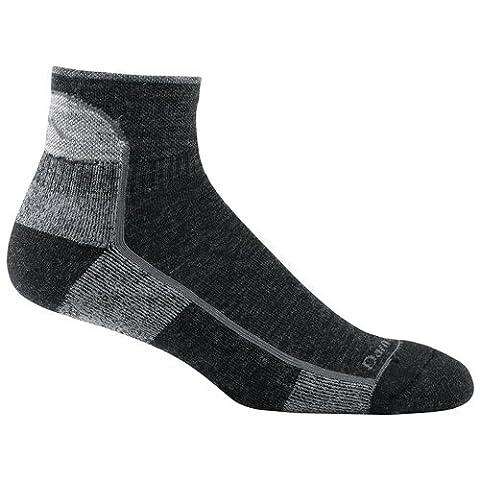 Darn Tough Vermont Men's 1/4 Merino Wool Cushion Hiking Socks, Black, Large